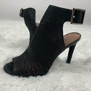 Vince Camuto KayJay Leather Booties Black Size 9M